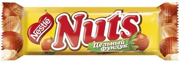 Шоколадный батончик NUTS (коробка)