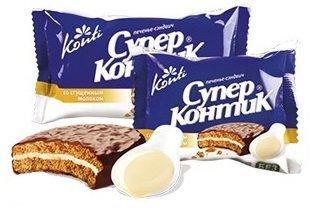 Печенье «Супер-контик» со сгущенным молоком (коробка)