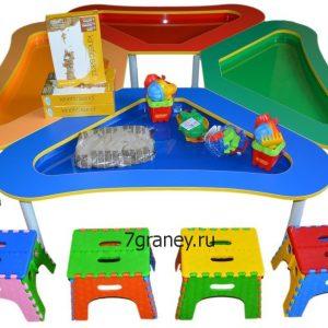 Стол для детского творчества «ЦВЕТОК»
