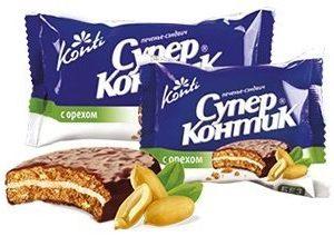 Печенье «Супер-контик» с орехом (коробка)