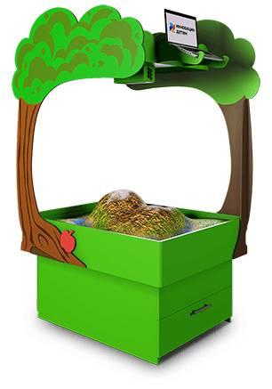 Интерактивная песочница-стол Полянка