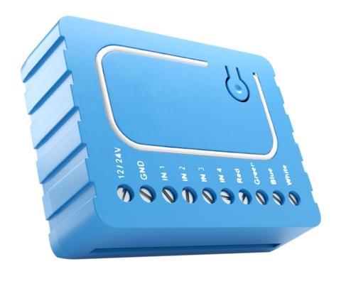 Встраиваемый модуль управления RGB/RGBW/LED-лентами, галогенными и LED-лампами Qubino RGBW