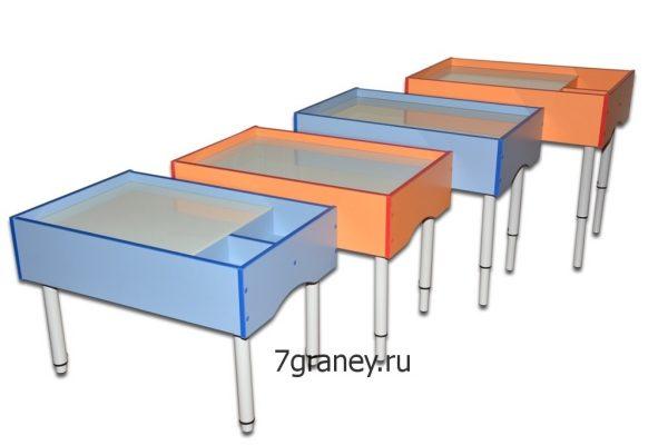 Песочные столы на регулируемых опорах