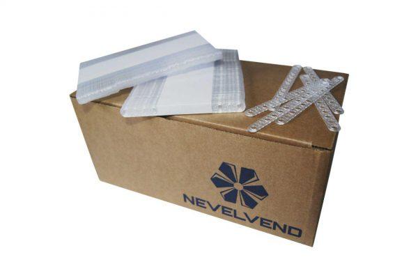 """Пластиковый одноразовый  размешиватель  для холодных и горячих напитков """"NEVELVEND®""""  длина 105 мм"""